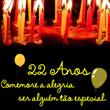 22 Anos Mensagens e Frases