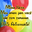 Feliz Aniversário Neta