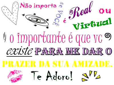 Recado Para Orkut - Amizade Virtual: 6