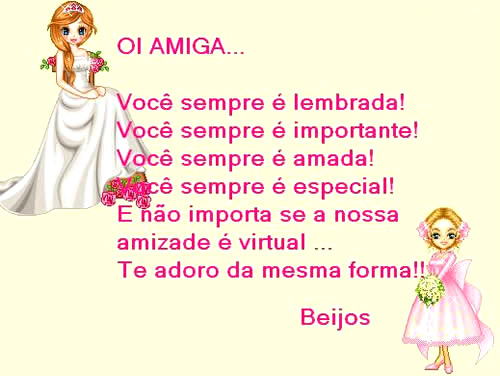 Recado Para Orkut - Amizade Virtual: 7
