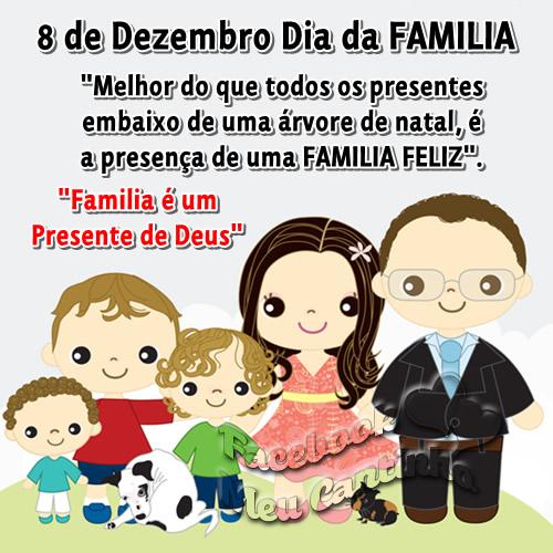 8 de Dezembro Dia da Família. Melhor do que todos os presentes embaixo de uma árvore de natal, é a presença de uma família feliz. Família é um...