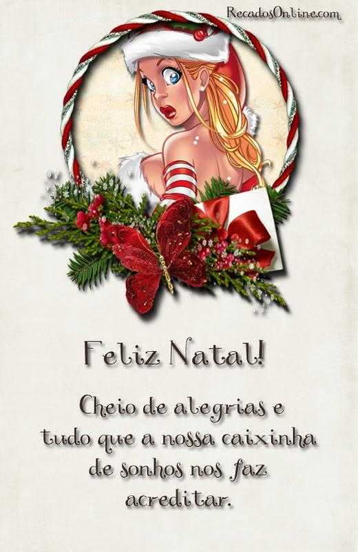 Feliz Natal! Cheio de alegrias...