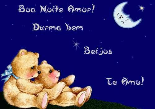 Boa Noite, Amor! Durma bem Beijos Te Amo!