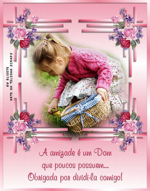 A amizade é um Dom que poucos possuem... Obrigada por dividi-la comigo!