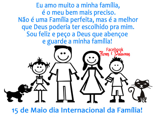 Mensagem Para Família O Bem Mais Precioso Que Deus Nos: Dia Internacional Da Família