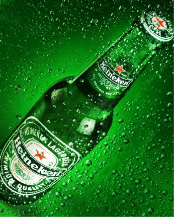 Garrafa de Heineken
