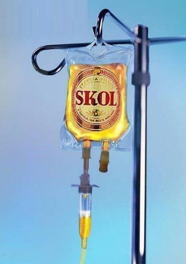 Soro de cerveja Skol