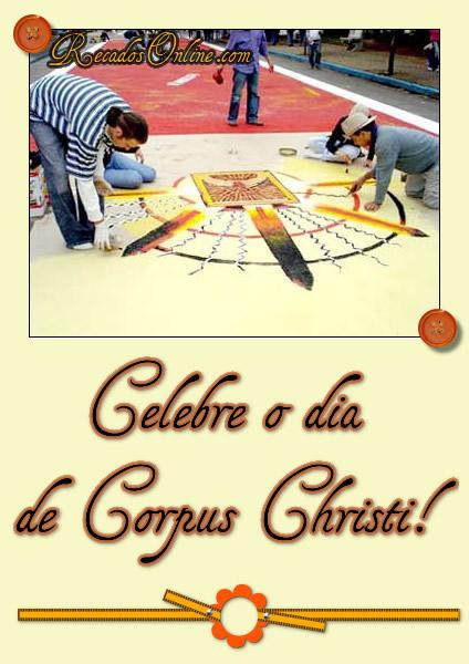 Celebre o dia de Corpus Christi!