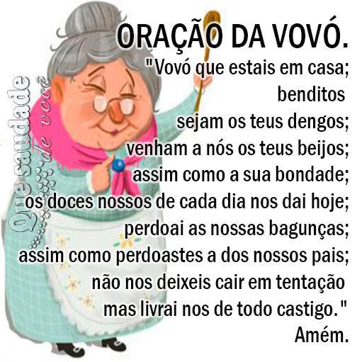 frases de amor para avó oração
