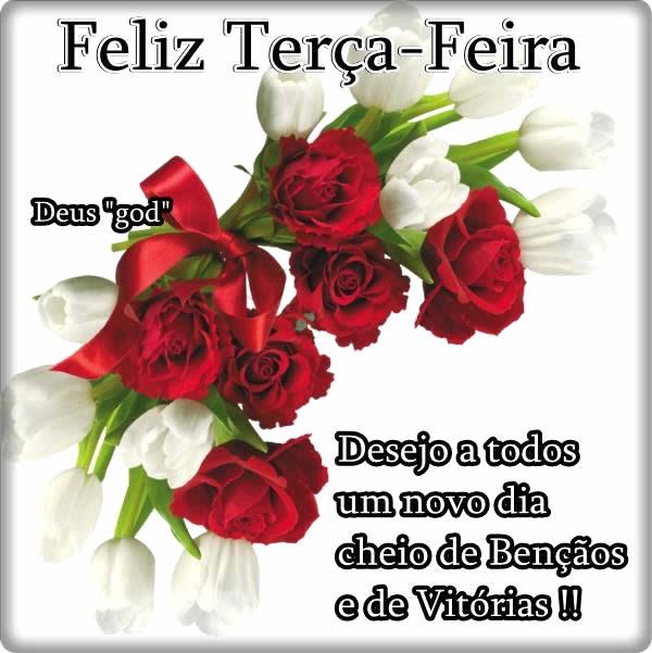 Feliz Terça-Feira. Desejo a todos um novo dia cheio d bênçãos e de vitórias!