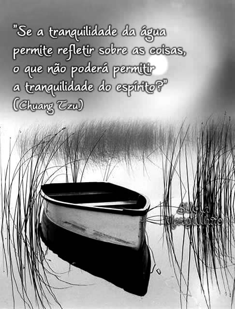 Se a tranquilidade da água permite refletir sobre as coisas, o que não poderá permitir a tranquilidade do espírito? Chuang Tzu
