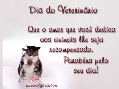 Dia do Veterinário Que o amor que você dedica aos animais lhe seja recompensado. Parabéns pelo seu dia!