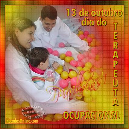 13 de Outubro Dia do Terapeuta Ocupacional