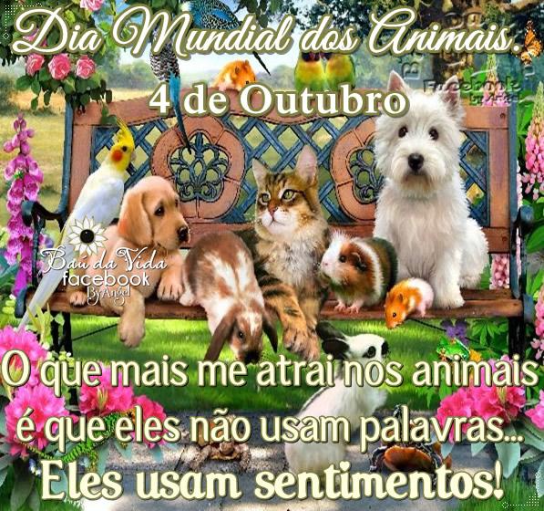 Imagens e Frases de Dia dos Animais