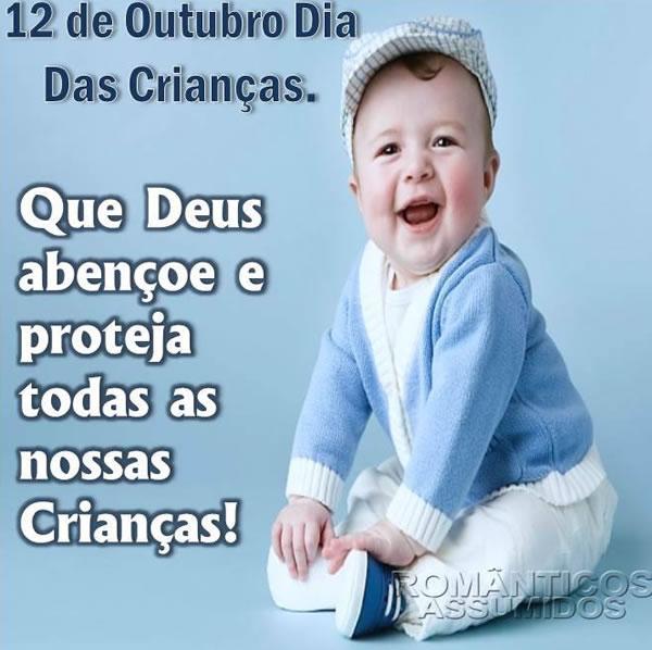 12 de Outubro Dia das Crianças. Que Deus abençoe e proteja todas as nossas crianças!