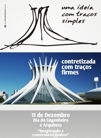 Uma ideia com traços simples Concretizada com traços firmes Dia do Engenheiro e Arquiteto 11 de Dezembro Imaginando e construindo sonhos