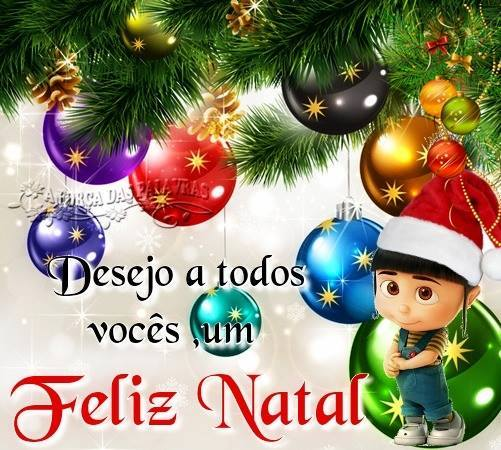 Desejo a todos vocês um Feliz Natal