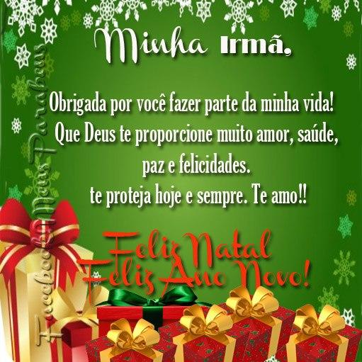 Feliz Natal Irmã