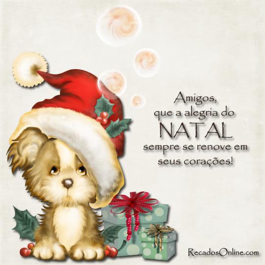 Amigos, que a alegria do Natal...
