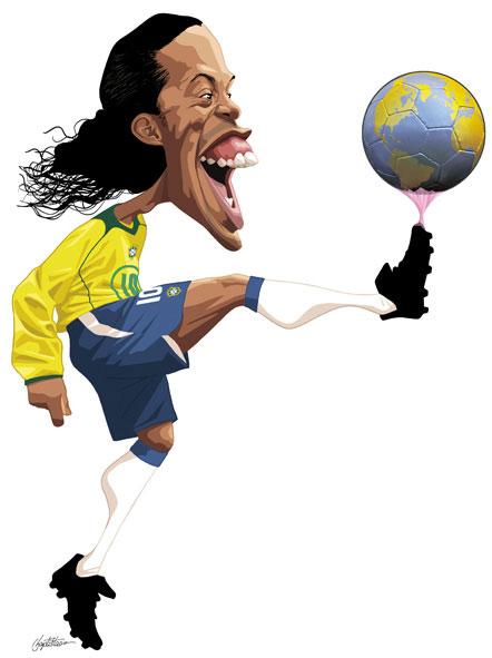 Charges de Futebol Imagem 1