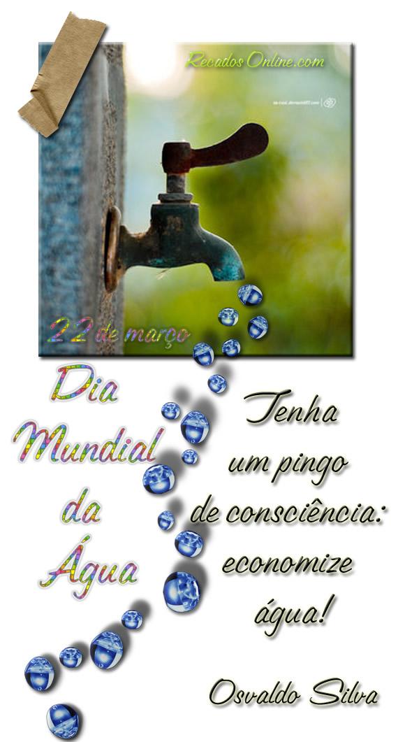 Dia mundial da água...
