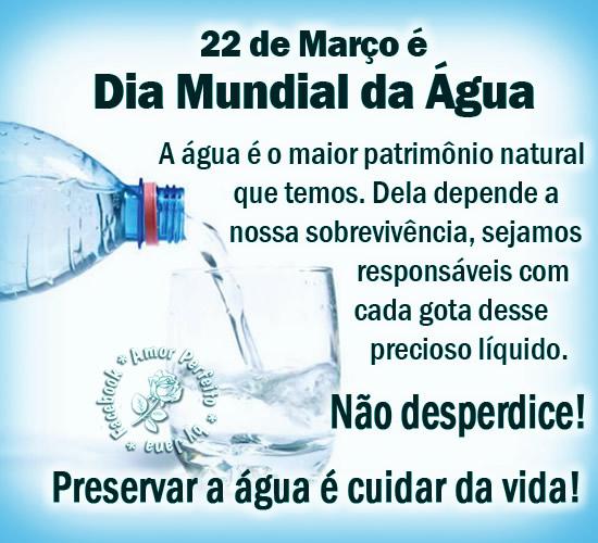 Dia Mundial da Água Imagem 1