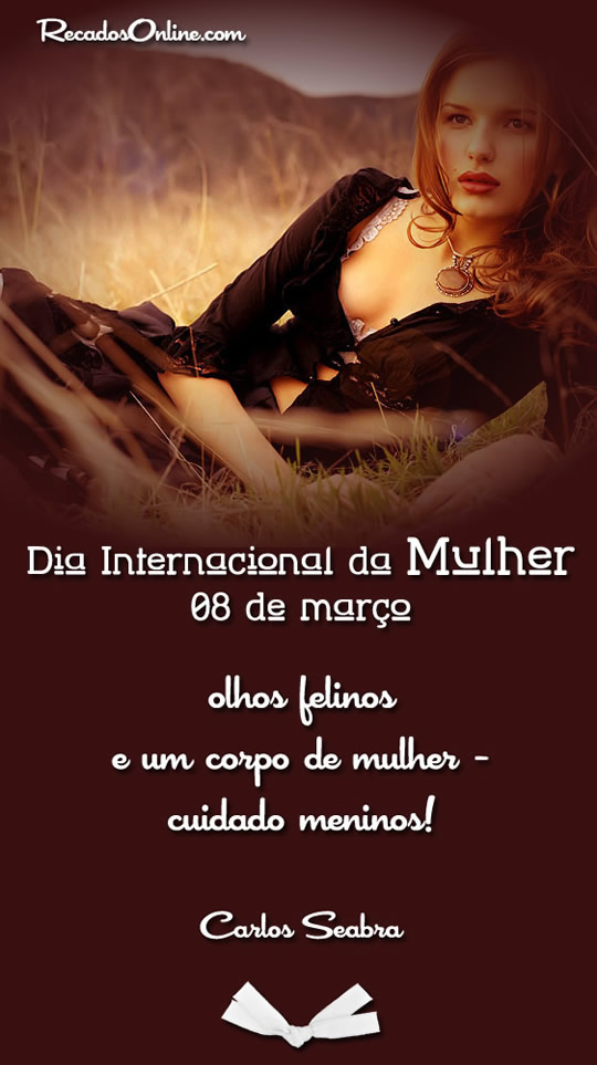 Dia internacional da mulher 08 de...