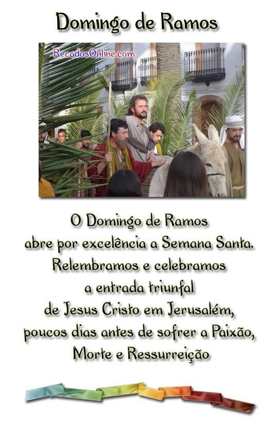 Domingo de Ramos O domingo de ramos abre...