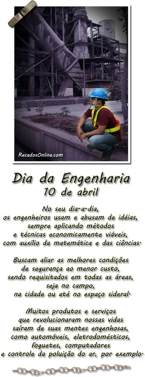 Dia da Engenharia 10 de Abril...