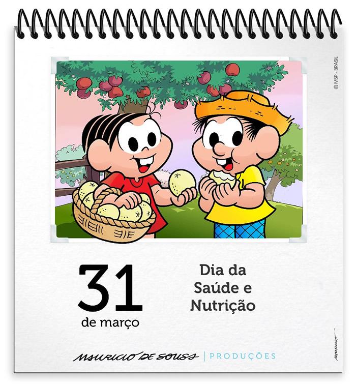 31 de Março Dia da Saúde e Nutrição.