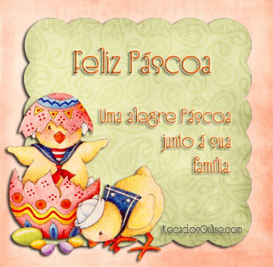 Feliz Páscoa Uma alegre...