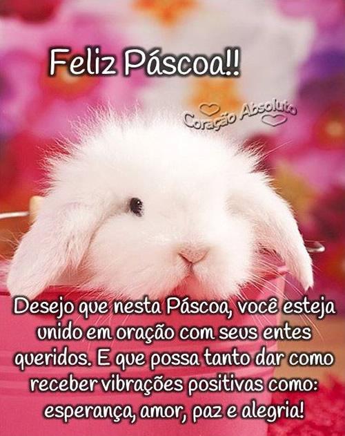 Feliz Páscoa!! Desejo que nesta Páscoa, você esteja unido...