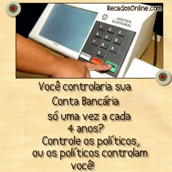 Você controlaria sua Conta Bancária...