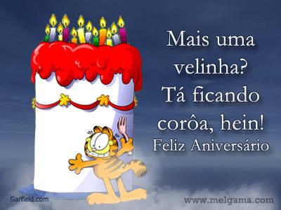 Feliz Aniversário Amiga Engraçado com bolo