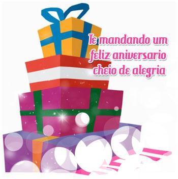 Te mandando um Feliz Aniversário cheio de alegria.