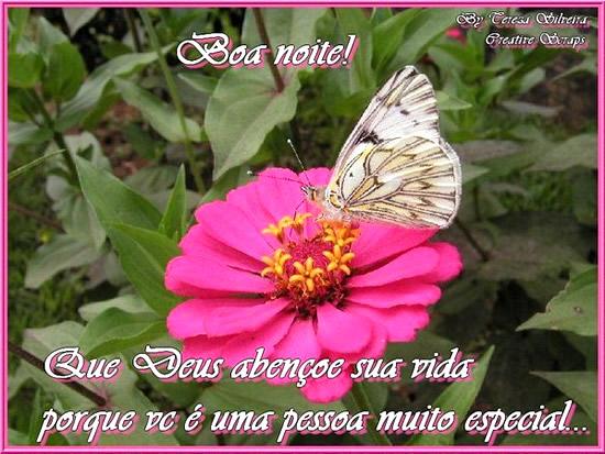 Boa noite! Que Deus abençoe sua vida porque você é uma pessoa muito especial...