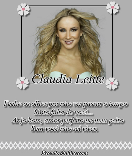 Claudia Leitte Fecho os olhos...
