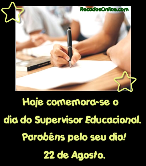 Dia do Supervisor Educacional: 3
