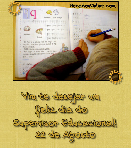 Dia do Supervisor Educacional: 4