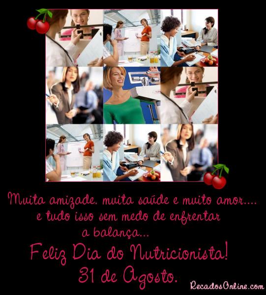 Muita amizade, muita saúde e muito amor... E tudo isso sem medo de enfrentar a balança... Feliz Dia do Nutricionista! 31 de...