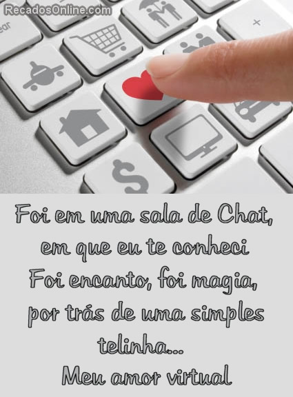 Recado Para Orkut - Amor Virtual: 1