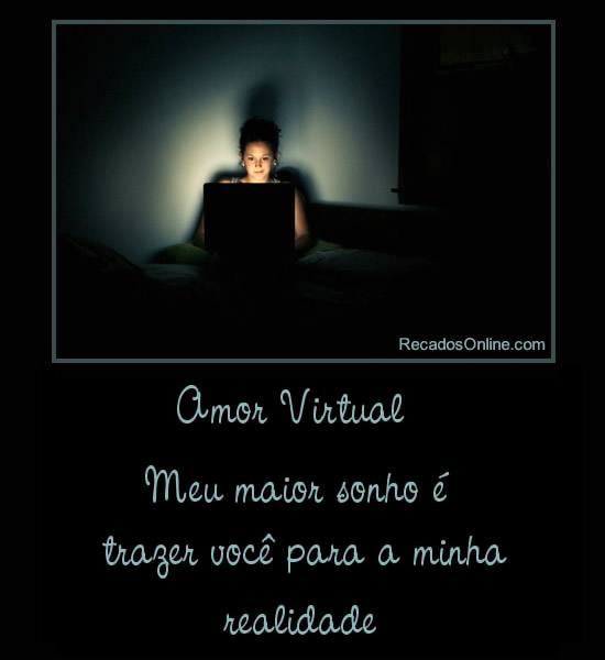 Recado Para Orkut - Amor Virtual: 3