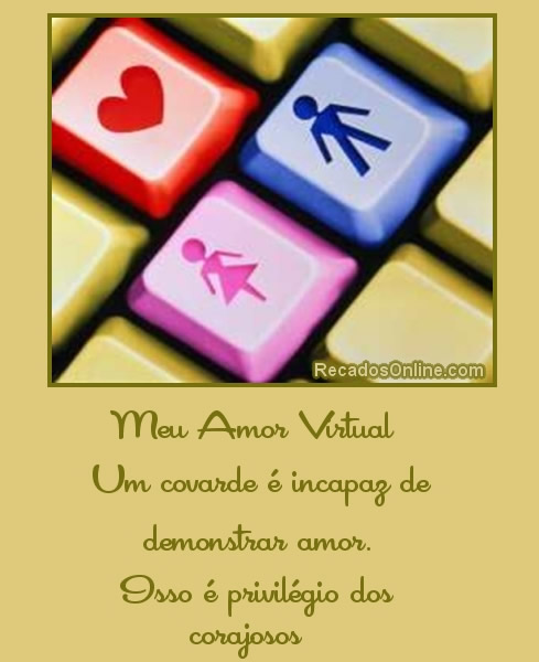 Recado Para Orkut - Amor Virtual: 7