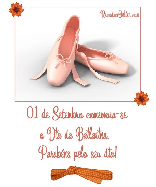 01 de Setembro comemora-se o Dia da Bailarina. Parabéns pelo seu dia!