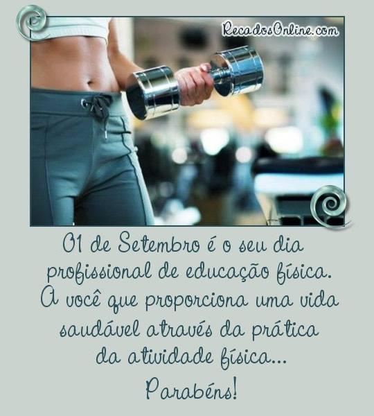 01 de Setembro é o seu dia Profissional de Educação Física. A você que proporciona uma vida saudável através da prática da atividade...