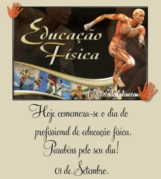 Hoje comemora-se o Dia do Profissional de Educação Física. Parabéns pelo seu dia! 01 de Setembro