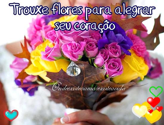 Trouxe flores para alegrar seu coração!