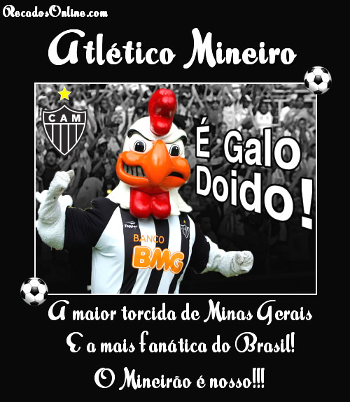 Atlético Mineiro É Galo Doido! A maior torcida de Minas Gerais e a mais fanática do Brasil! O Mineirão é nosso!