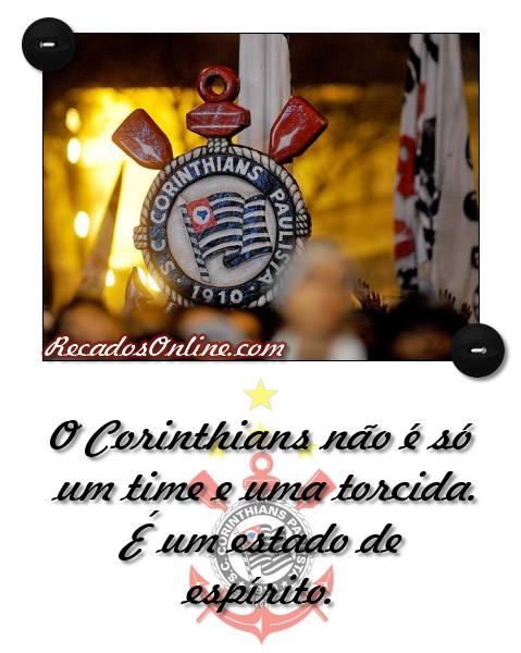 O Corinthians não é só um time e uma torcida. É um estado de espírito.