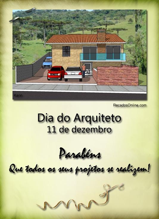 Dia do Arquiteto 11 de Dezembro...